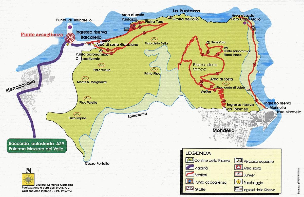 Cartina Sicilia Mondello.Sentieri E Trekking Riserva Di Capo Gallo Mondello Palermo