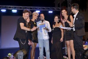 Parte dello staff della serata con Francesco Pampa al centro (foto Pietro Conte)
